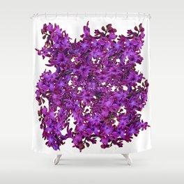"""Purple Hyacinth"" Garden Queen Floras Shower Curtain"