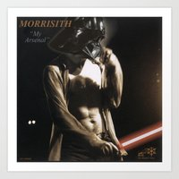 """arsenal Art Prints featuring Morrisith """"My Arsenal"""" by Ant Atomic"""