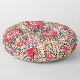 Samarkand Suzani Southwest Uzbekistan Embroidery Floor Pillow