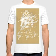 crossing 8 MEDIUM Mens Fitted Tee White