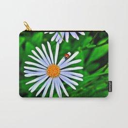 Blue daisy and a ladybird Carry-All Pouch