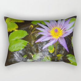 Enchanting Lotus Rectangular Pillow