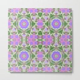Elegant ornament, ornament, lilac and green, starsic ornament, tribal , rustic, creative, popular, green, lilac Metal Print