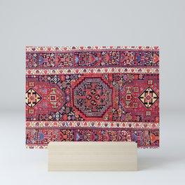 Kolyai  Kurdish Persian Antique Rug Print Mini Art Print