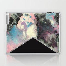Marbled Solid Silver Laptop & iPad Skin