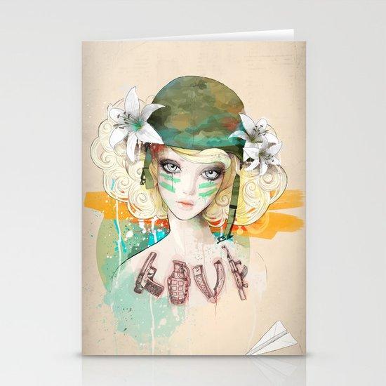 War girl Stationery Cards
