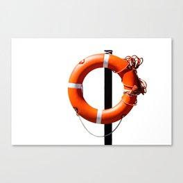 Orange live saving ring Canvas Print