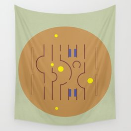 Aldo Van Eyck Meets Jamini Roy Wall Tapestry