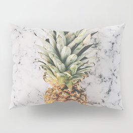 Pineapple on a Marble Surface Pillow Sham