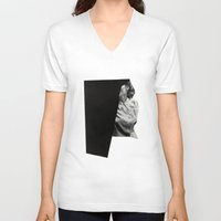 shadow V-neck T-shirts featuring Shadow by Richard Vergez