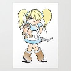 Grumpy Girl Art Print