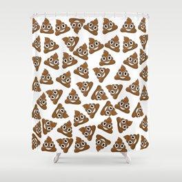 Pile of Poop Smiling Poo Emoji Pattern Shower Curtain