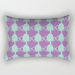Vector Wild Teasel Pattern Rectangular Pillow