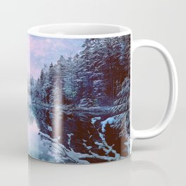 Icy Lavender Blue Winter Wonderland Forest Coffee Mug