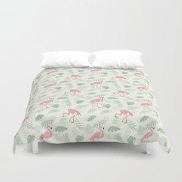 Flamingo Love Tropical Duvet Cover