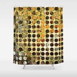 MELANGE OF YELLOW OCKER and BROWN Shower Curtain