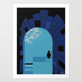 A glimpse of Ancient Greece Art Print