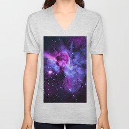 Purple Periwinkle Violet Carina Nebula Unisex V-Neck