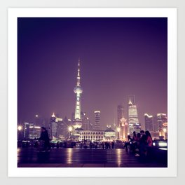 Shanghai Night Art Print