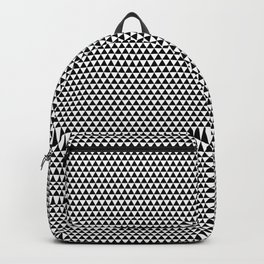 Black and White Repeating Geometric Triangle Pattern Backpack