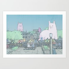 Giant Cats of Norwich Art Print