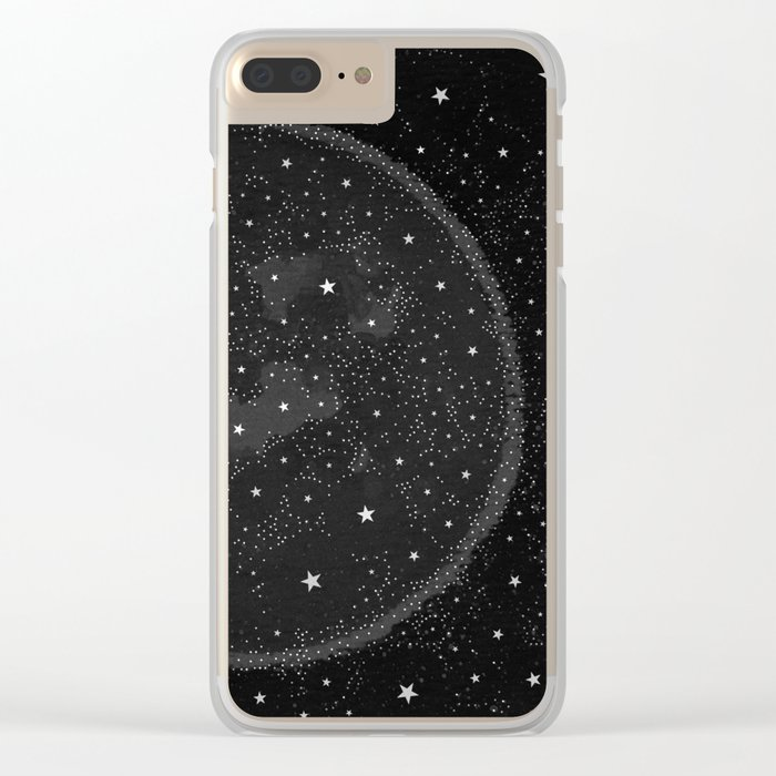 Starry Boho Moons Clear iPhone Case