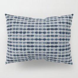 Shibori Frequency Horizontal Navy and Grey Pillow Sham
