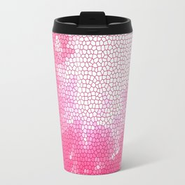 Pink stained glass Travel Mug