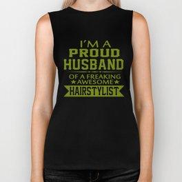 I'M A PROUD HAIRSTYLIST'S HUSBAND Biker Tank