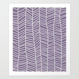 Baesic Herringbone (Eggplant) Art Print