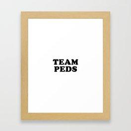 TEAM PEDS Framed Art Print