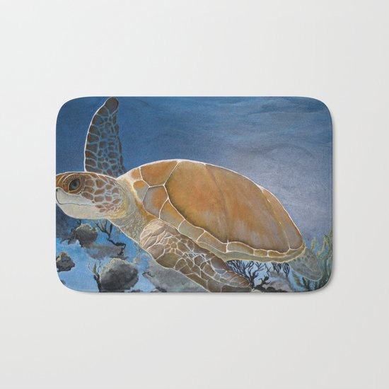 sea turtle by Jes Bath Mat