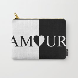 AMOUR LOVE Black And White Design Carry-All Pouch