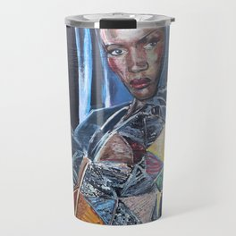 Grace Jones Mural Travel Mug