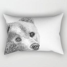 Shaggy Grizzly Bear Rectangular Pillow