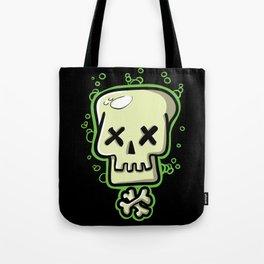 Toxic skull and crossbones green Tote Bag