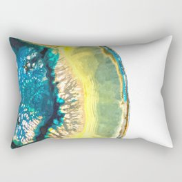 Blue and Yellow Agate Rectangular Pillow