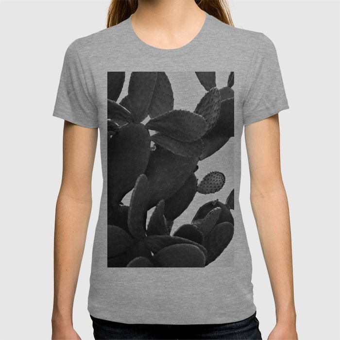 Cactus in Black And White T-shirt