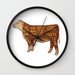 Cow Cuts Wall Clock