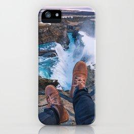Edge of Gullfoss iPhone Case