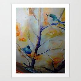Unique Perspective Birdlife watercolor by CheyAnne Sexton Art Print