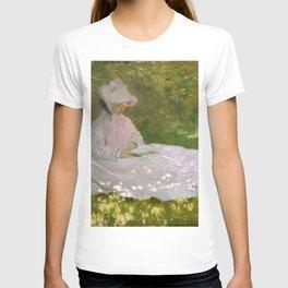 Monet, Springtime, 1872, oil on canvas T-shirt