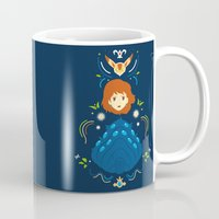 nausicaa Mugs featuring Wind Valley by Ashley Hay