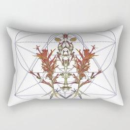 Oregon Flowers & Sacred Geometry Rectangular Pillow