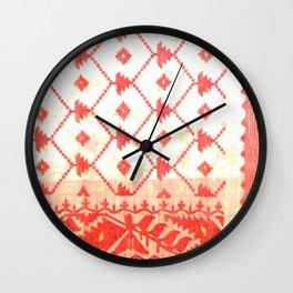 My mother's sari Wall Clock