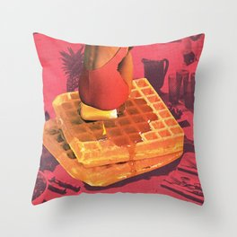 WAFFLE Throw Pillow