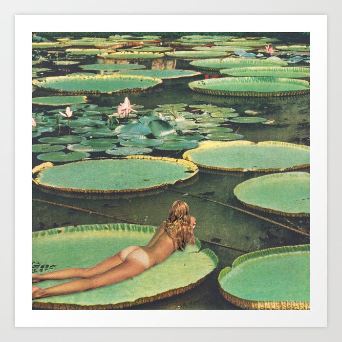 9e8788552e LILY POND LANE Art Print
