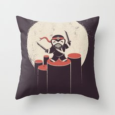 The Happiest Ninja in Town. Throw Pillow
