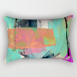 [Still] Hopeful - a bright mixed media abstract piece Rectangular Pillow