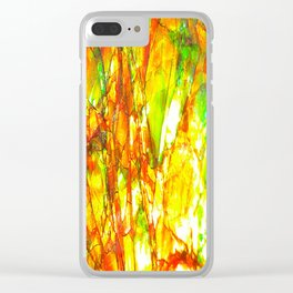 Sunset Ammolite Clear iPhone Case